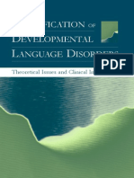 Classification of Developmental Language Disorders Theoretical Issues and Clinical Implications - Ludo Verhoeven