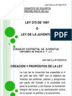 Presentacion Ley de La Juventud CDJ Cartagena DIAPOSITIVAS