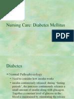 Diabetes Nursing Care