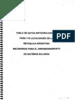 Tabla Radiacion Solar 118 Local Ida Des a