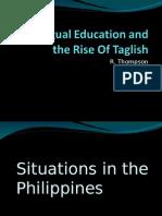 Bilingual Education and the Rise of Taglish - Ava