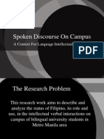 Spoken Discourse on Campus