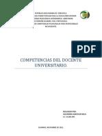 Competencias del Docente Universitario.
