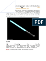 Modelin and Animation a Light Saber in 3d Max