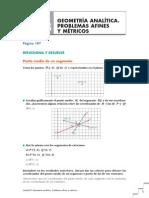 08.-Geometria analitica. Porblemas afines y métricos