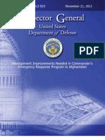 DOD IG Report on CERP/Afghanistan