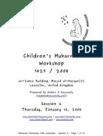 Muharram 1429 2008 Workshop Notes for Session 02 Release v1.0