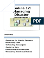 Module 8 - Managing Disaster Recovery