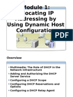 Module 10 - Allocating IP Addressing by Using DHCP