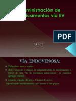 Administración de medicamentos vía EV