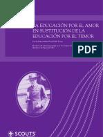 La Educación por el amor en sustitución de la educatión por el temor_ES