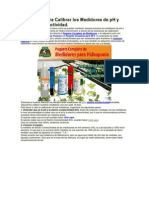Calibrar Los Medidores de pH y Electro Conductividad