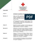 Cronograma Proceso Electoral Distrital 2008