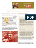 The Situation in Sudan and the Role of the US - United to End Genocide, Fall 2011
