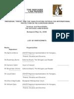 Participation List Budapest