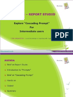 Cascading Prompt in Report Studio