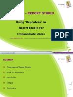 Repeaters in Report Studio