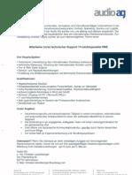 Audio AG Stellenanzeige Technischer Support Supportspezialist RME