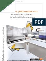 Sierra Vertical Holz-Her y Promaster 7123 CNC Alucobond Dibond Co