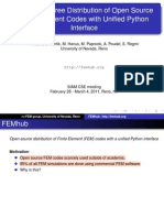 FemHub -- Free Distribution of Open Source FEM Codes With Python Interface [Solin; U.nevada, org 2010]