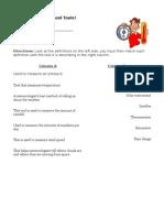 Cool Tools Worksheet