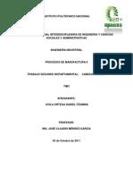 Procesos de Manufactura II - Trabajo Segundo Depart a Mental