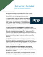 Ansiedad Preoperatoria y Estres Quirujico