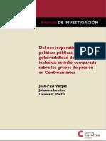 Del neocorporativismo y las políticas públicas a la gobernabilidad democrática inclusiva - estudio comparado grupos de presión en Centroameríca