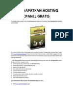 Membuat Website Menggunakan Hosting Cpanel Gratis