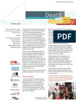 Death and Diversity Newsletter No 3 (Nov 2011)