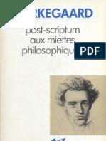 Kierkegaard - Post-Scriptum Aux Miettes Philosophiques