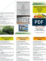 Programa fertilizacion Frutales