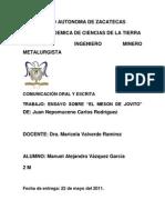 Ensayo de El Meson Del Jovito