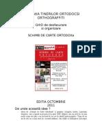 Ghid Schimb de Carte Ortodoxa -Varianta Finala