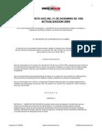 Decreto 2423 de 1996 - Actualizado Tarifas Soat 2009
