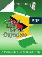 APNU Manifesto 2011 - A Good Life for All Guyanese