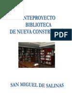 Anteproyecto Biblioteca de San Miguel de Salinas