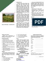 Leaflet Pelatihan Budidaya Sorgum