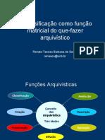 A classificação como função matricial do que-fazer arquivístico