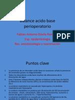 Balance Acido Base Perioperatorio