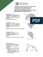 Problemas propuestos de Centróides de Linea, Área y Volumen - Estática