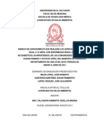 Estudio Sobre El Manejo de Agroquimicos de Personas Con Erc - Bajo Lempa 2011 Ues PDF