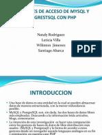 Funciones de Acceso de Mysql y Posgrestsql Con