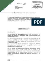 MOCIÓN DE SALUDO - 84° ANIVERSARIO DISTRITO DE TAMBOGRANDE