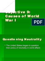 Unit 6 Objective 9 - Causes of WWI