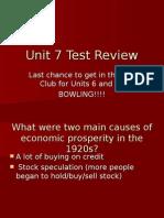 Unit 7 Test Review