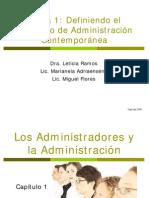 Tema 1 Definiendo El Concepto de Administración Contemporánea