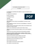 Ley General de Salud Del PerÚ 1996