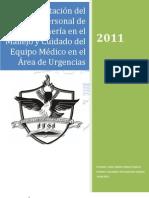 Capacitacion Del Personal de Enfermeria en El Uso y Cuidado de Equipo Medico