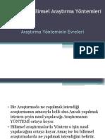 Bilimsel Araştırma Yöntemleri - Kopya